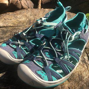 Keen Girl's Blue/Teal Sport Sandals Size 4